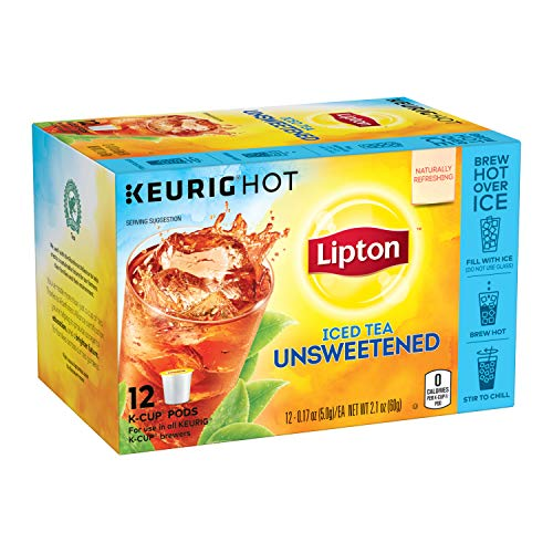 Lipton Iced Tea K-Cup Pods For a Cold Beverage Unsweetened Black...