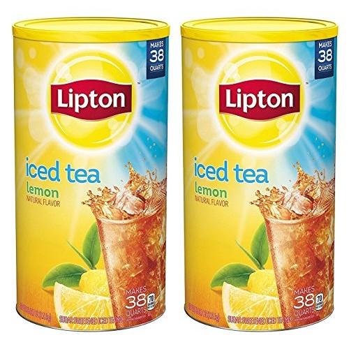 Lipton Iced Tea Mix, Lemon 38 qt - Pack of 2