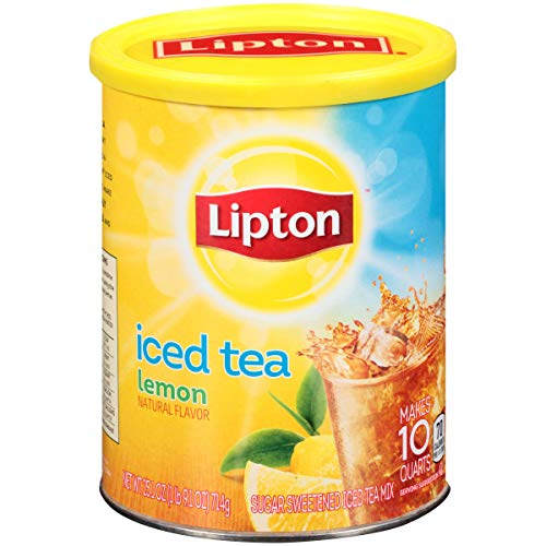 Lipton Iced Tea Mix with Lemon - 53 oz. container, 6 containers ...