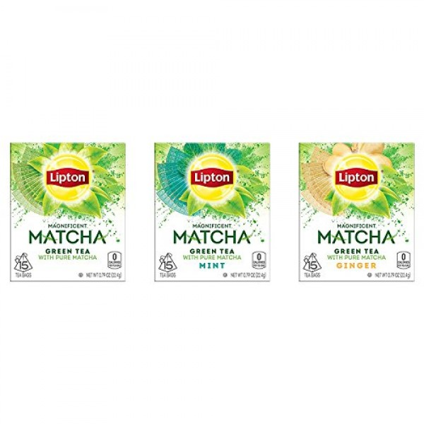 Lipton Magnificent Matcha Tea Bags For a Warm Beverage Green Tea...