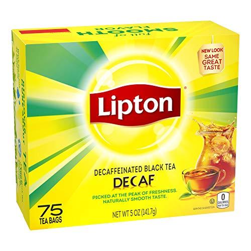 Lipton Tea Bags For a Delicious Beverage Decaffeinated Black Tea...
