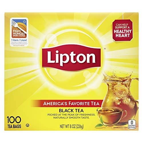 Lipton Black Tea Bags, 100% Natural Tea, 100 ct