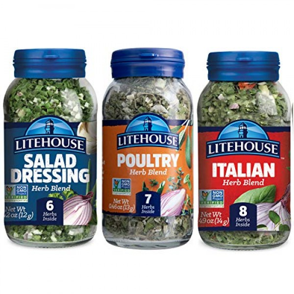 Litehouse Freeze-Dried Flavors Variety Herb Blend Pack, Italian...