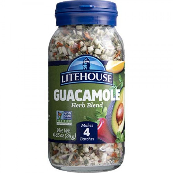 Litehouse Freeze Dried Guacamole Herb Blend, 0.85 Ounce, 6-Pack