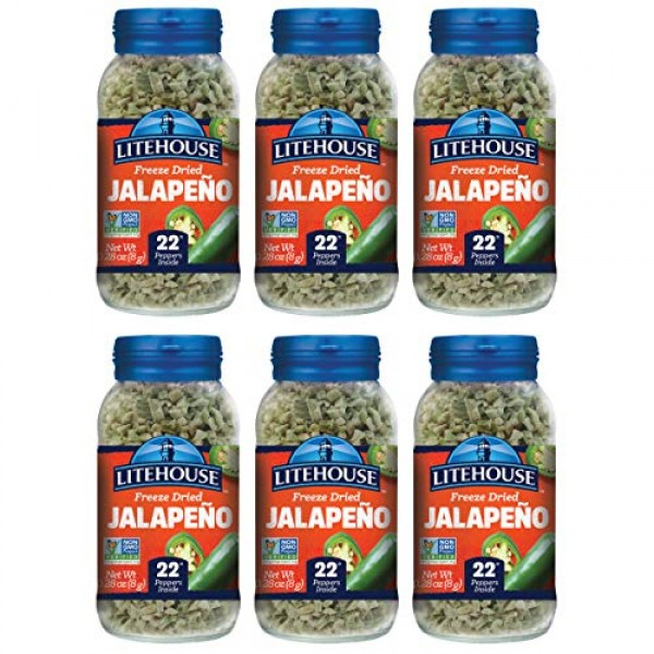 Litehouse Freeze Dried Jalapeno Herb, 0.39 Ounce, 6-Pack