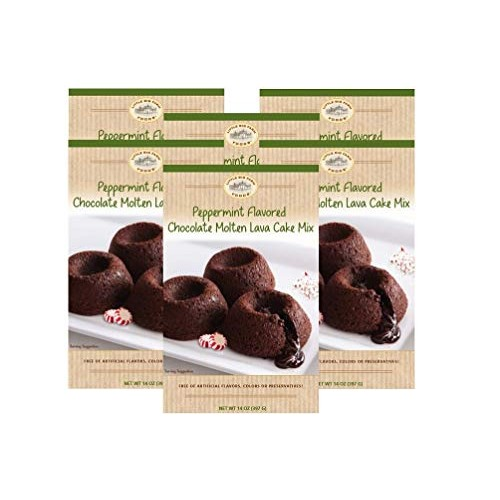 Little Big Farm Foods Peppermint Molten Lava Cake Mix 6 Pack