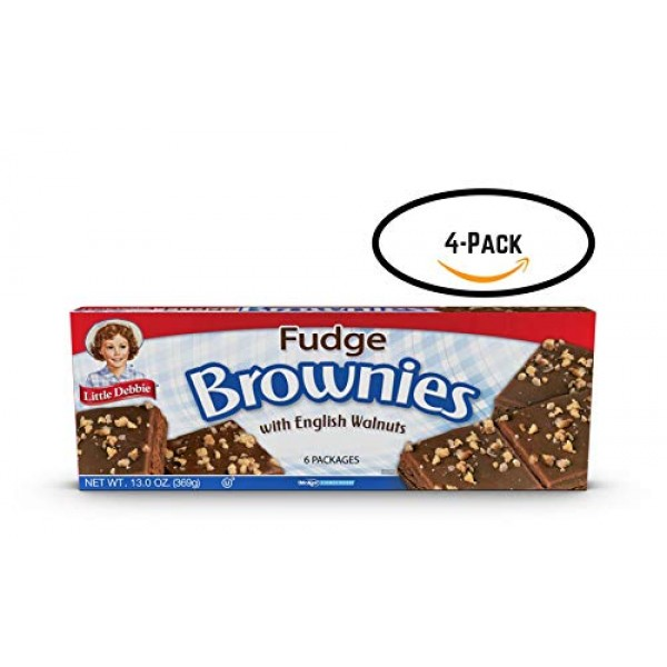 Little Debbie Fudge Brownies with English Walnuts 6 count 13 o...