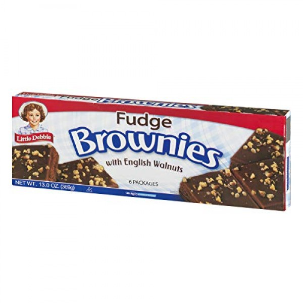 Little Debbie: Fudge Brownies with Walnuts 6/3 Oz. 3 Boxes