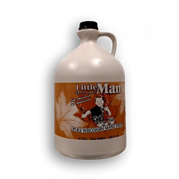 100% Pure Wisconsin Maple Syrup Grade B/Dark Robust Taste Gallon