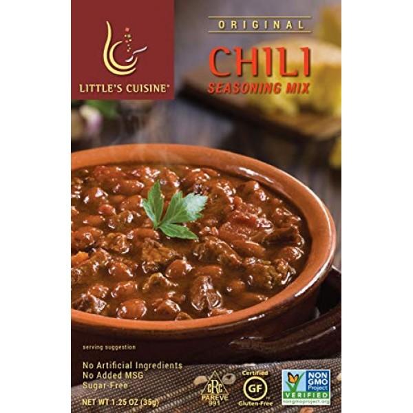 Littles Cuisine Original Chili Seasoning Mix Case of 4