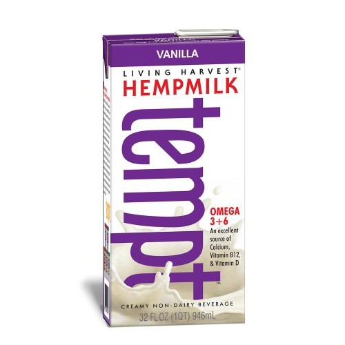 Living Harvest Tempt Hemp Milk, Vanilla, 32-Ounce Containers Pa...