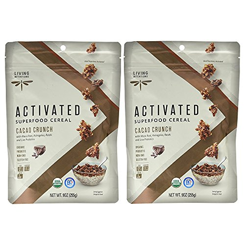 Living Intentions Superfood Cereal, Cacao Crunch, with Probiotic...