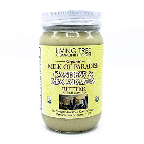 Living Tree Alive & Raw Organic Cashew Butter with Macadamia Nut...