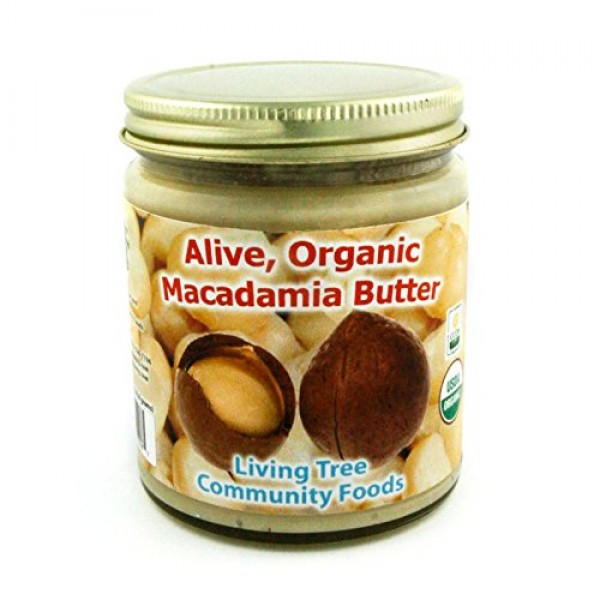 Living Tree Alive & Raw Organic Macadamia Nut Butter, Made in Sm...
