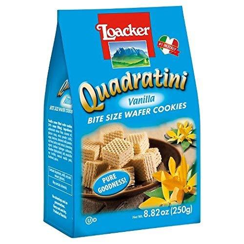 Loacker Quadratini- Vanilla Wafer Cookie, 8.82 oz per bag pack ...