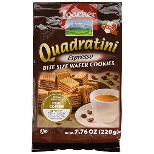 Loacker Wafer Quadratini Espresso, 7.76 oz
