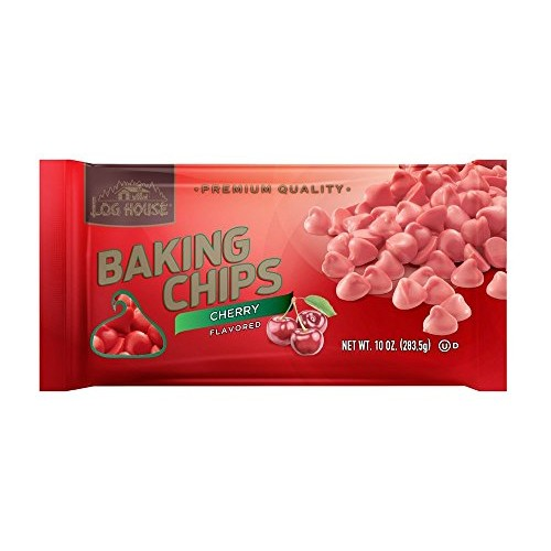 Log House Cherry Flavored Baking Morsels Chips 10oz Bag Pack of...
