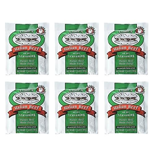 Louies Italian Beef Seasoning, 3-ounce Pack of 6