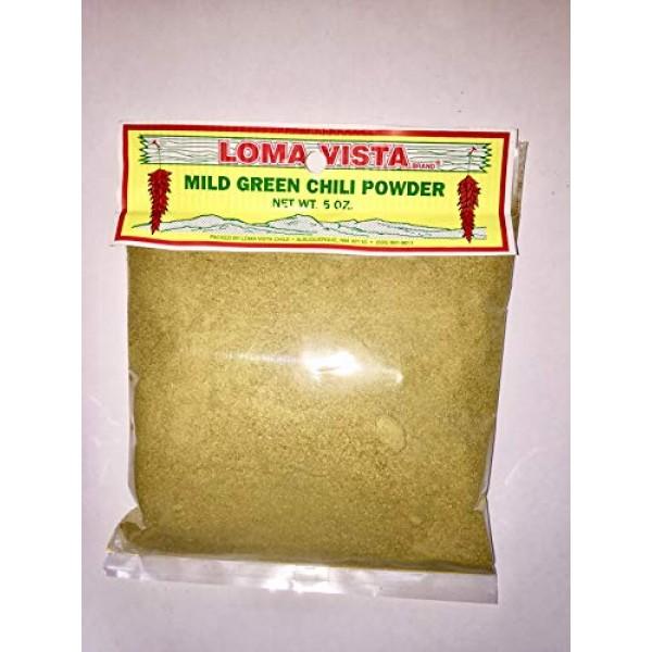 Loma Vista Mild Hatch Green Chili Powder, 5 Ounces