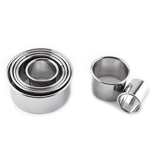 14Pcs//Set Mousse Ring Mould Cake Circular Mold Kitchen Baking Stainless Steel