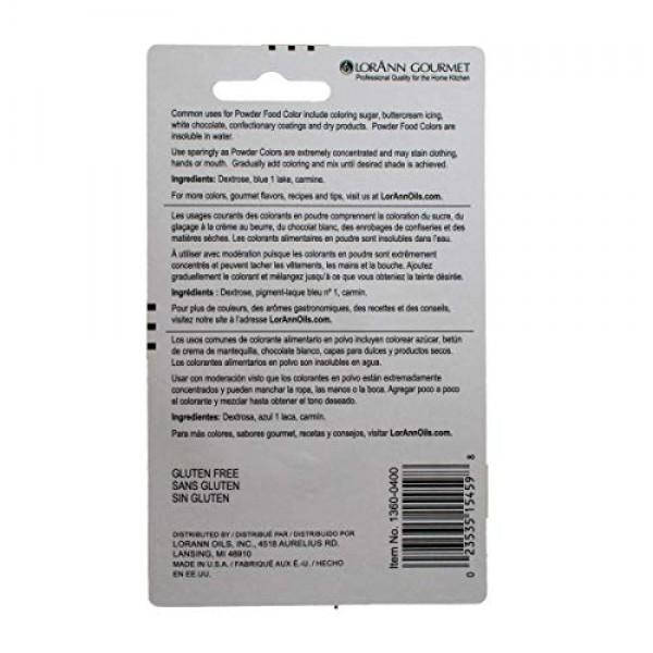 LorAnn Purple Powder Food Color 1/2 ounce jar - Blister pack