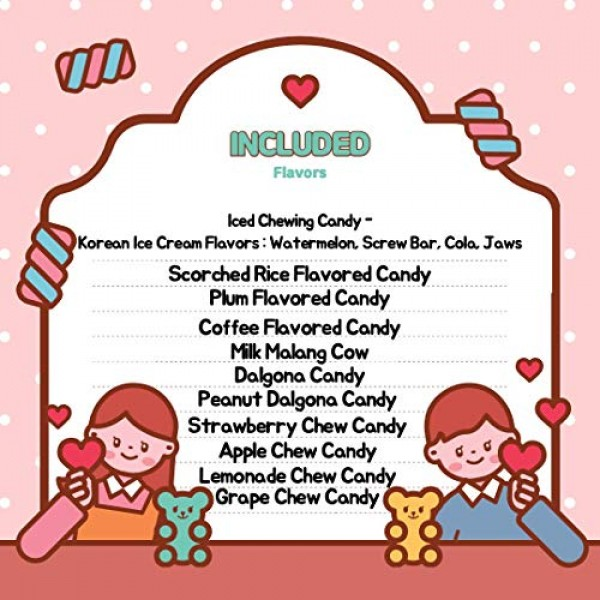Assorted Korean Candy 11 Count Sampler Gift Set - All Different ...