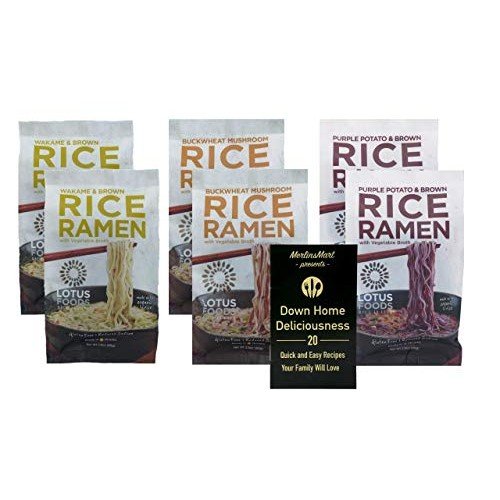 Lotus Foods Gluten Free Rice Ramen Soup 3 Flavor 6 Bag Variety P...