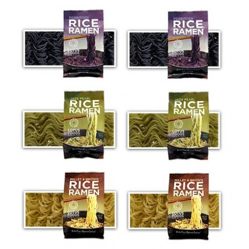 Lotus Foods -Gluten Free Rice Ramen Variety Pouch 6 Pack - [Forb...