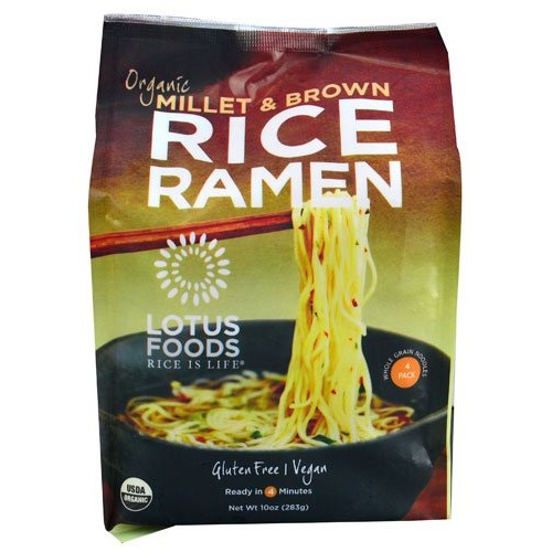 Lotus Foods Organic Rice Ramen Noodles Millet & Brown -- 10 oz -...