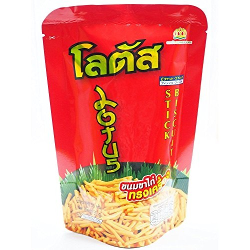 Lotus Biscuit Stick Thai Style Snack Crispy and Tasty 55g. [Pack...