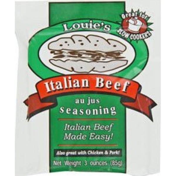 Louies Seasoning Italian Beef Au Jus Seasoning - 12 Packets 3 O...