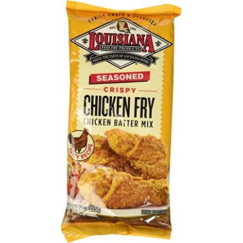 Louisiana Seasoned Crispy CHICKEN FRY Batter 9oz Pack of 3