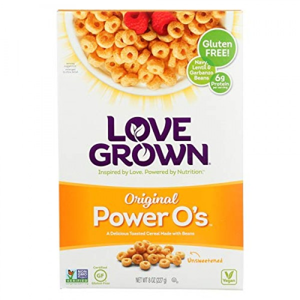 Love Grown Cereal Power Os Original 8 Ounce Pack of 6