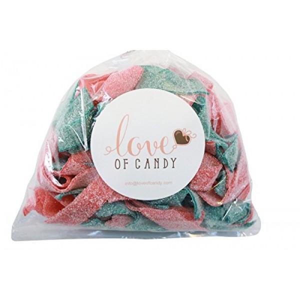 Love of Candy Bulk Candy - Blue Raspberry & Strawberry Sour Belt...