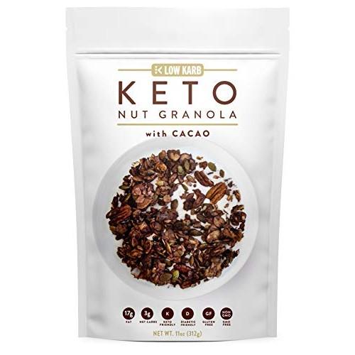 Low Karb - Keto Cacao Nut Granola Healthy Breakfast Cereal - Low...