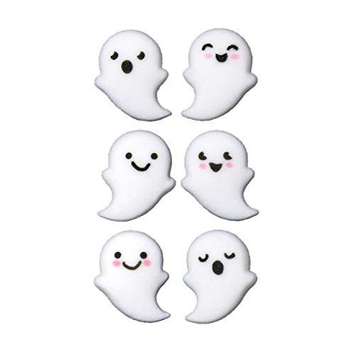 24 Ct. Halloween Ghost Buddies Assortment Edible Sugar Decoratio...
