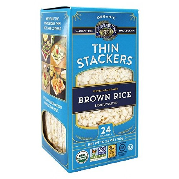 Lundberg Family Farms, Thin Stackers Brown Rice Lightly Salted O...