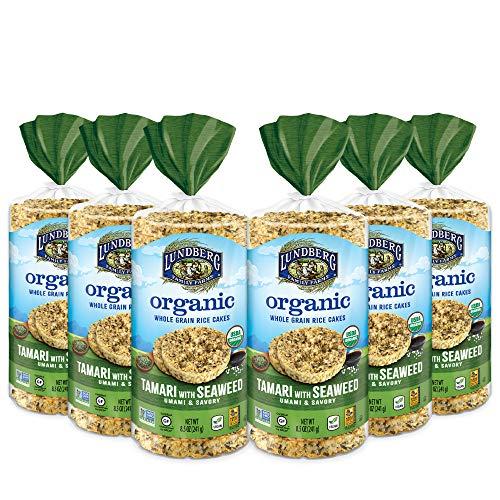 Lundberg Organic Brown Rice Cakes, Tamari with Seaweed, 8.5oz 6...