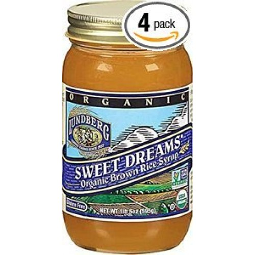 Lundberg Farms Rice Syrup, Og, Brown, 21-Ounce Pack of 4