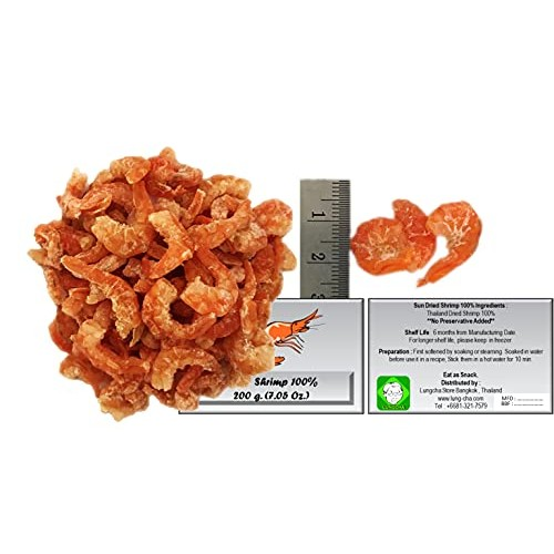 Dried Shrimps with Salt for Asian Cuisine Fresh Seafood Flavor o...