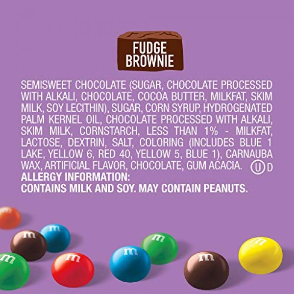M&MS Fudge Brownie Sharing Size Chocolate Candy, 9.05 Oz. Stand...