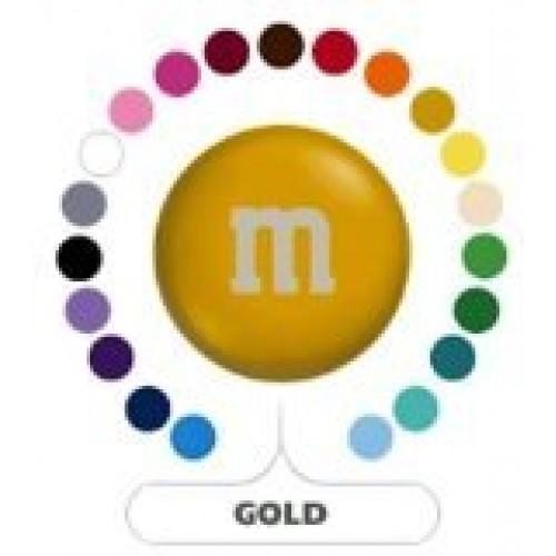 M&Ms Gold Milk Chocolate Candy 5LB Bag Bulk