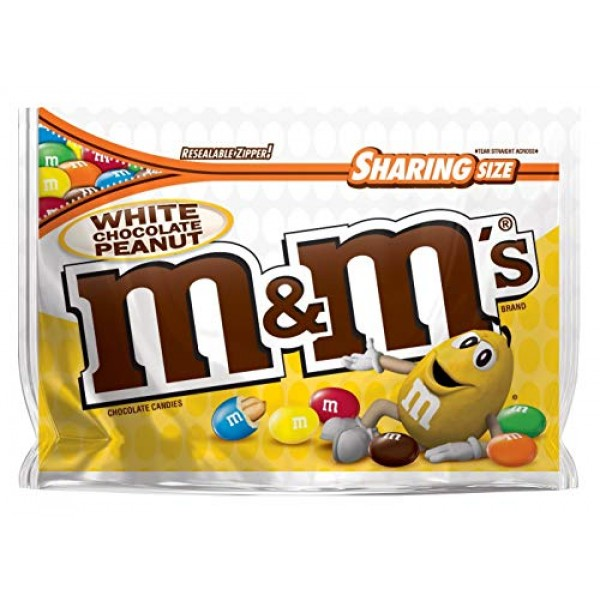 M&Ms White Chocolate Peanut Candies - 9.6 oz - Sharing Size