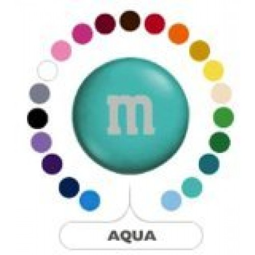 M&Ms Aqua Milk Chocolate Candy 5LB Bag Bulk