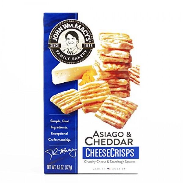 Macys Cheddar and Asiago Cheese Crisps 4.5 oz each 3 Items Per...