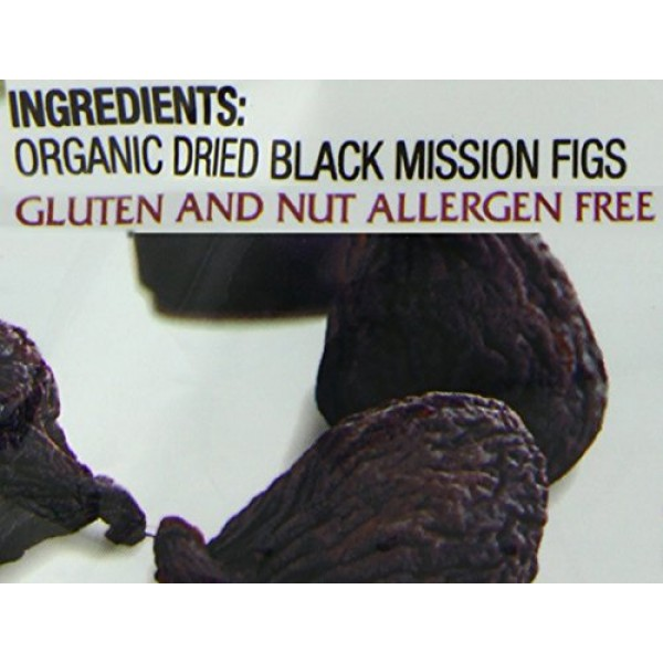 Made In Nature Organic Black Mission Figs, Sun-Dried and Unsulfu...