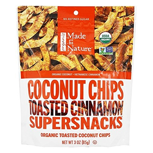 Made in Nature Coconut Chips Toasted Cinnamon, 3 oz