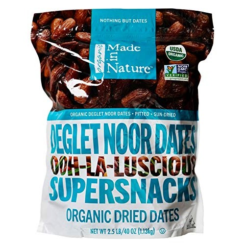 Made in Nature Organic Deglet Noor Sun-Dried Dates, 40 Ounces