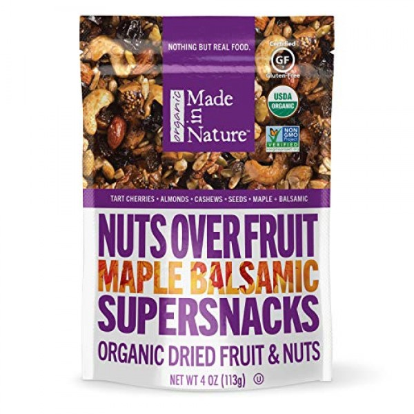 Made In Nature Organic Maple Balsamic Nuts Over Fruit, 4oz 6-Pa...