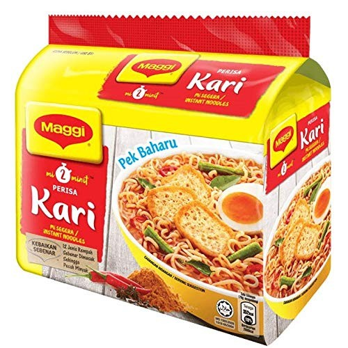 Maggi Nestle Malaysia 2 Minute Instant Curry Flavour Masala Nood...